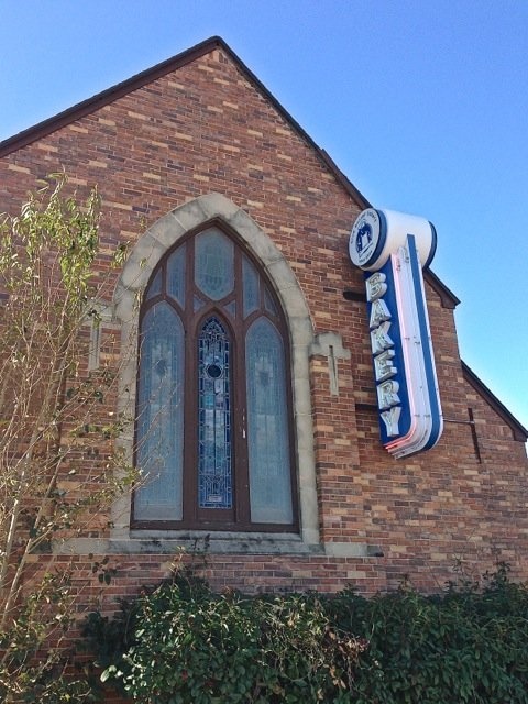 Adaptive-Reuse-Church-to-Bakery-main-sign