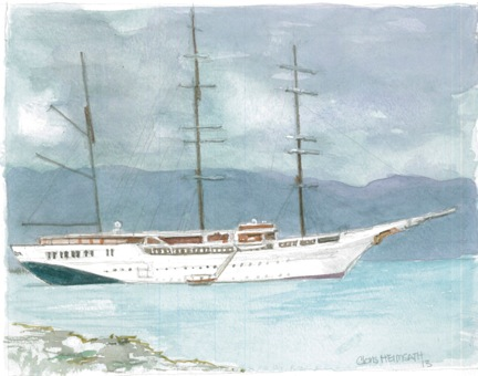 Architectural Watercolor Sea Cloud II