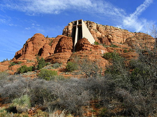 Chapel of the Holy Cross (Sedona, Arizona), exterior and landscape resized 600