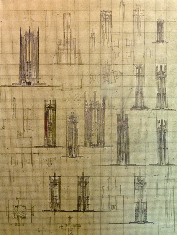 Holy Cross Chapel Cathedral Tower Sketches resized 600