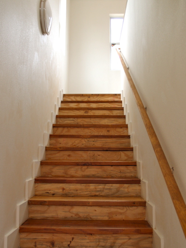 Stairs with salvaged treads
