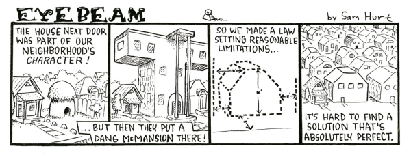 McMansion Eyebeam Cartoon