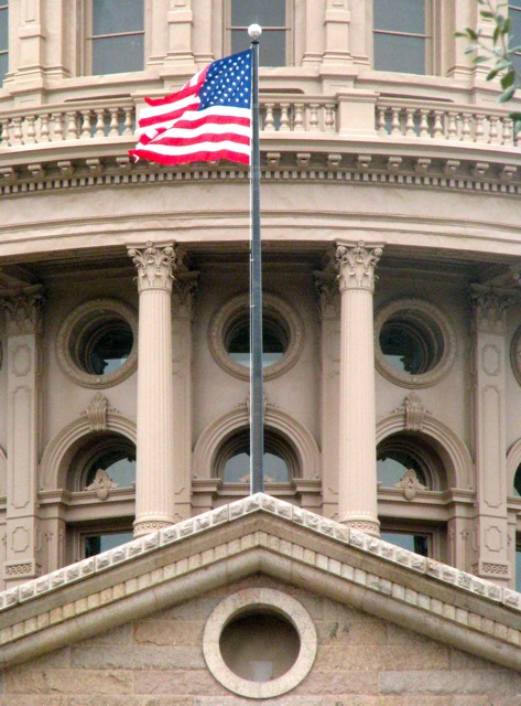Texas State Capitol and Flag