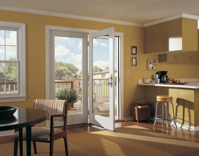 200 Series Hinged Patio Door, Inswing, White Interior, Metro Hardware,  Anvers Design