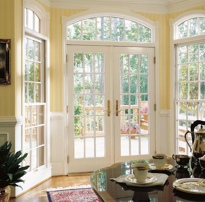 400 Series Frenchwood Hinged Patio Door Colonial Grilles