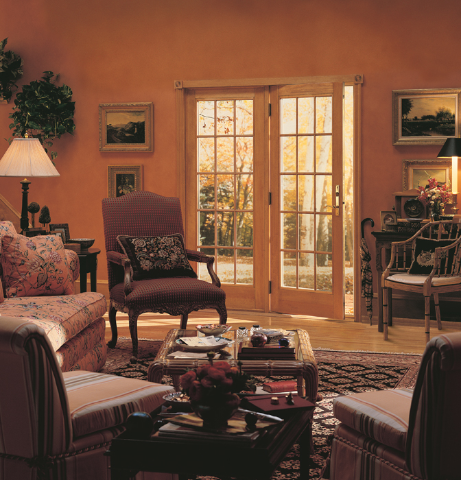 Andersen barefoot and company 400 series frenchwood hinged patio doors inswing colonial grilles planetlyrics Image collections