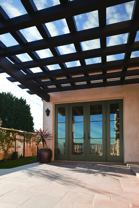 A Series Frenchwood Hinged Patio Door, Outswing With Specified Equal  Divided Light Grilles (