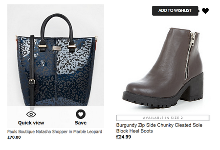 asos category page