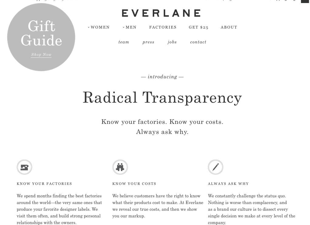 Everlane storytelling