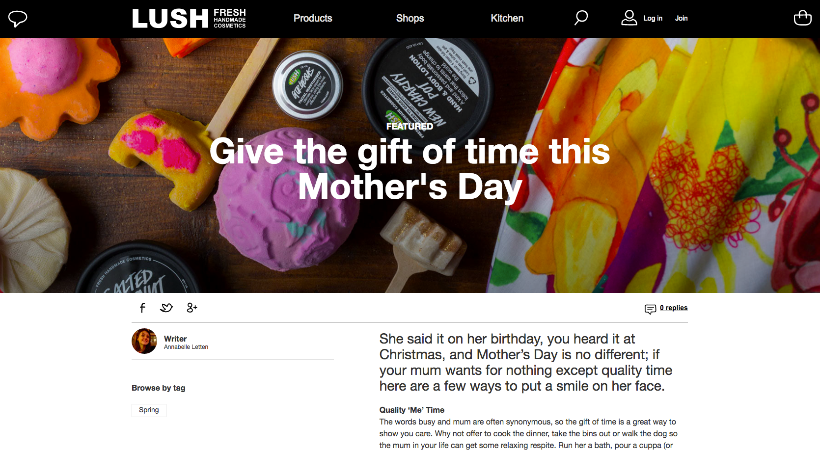 Lush_Mother's Day marketing