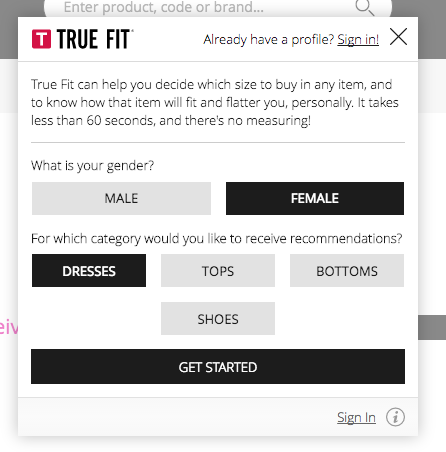 house of fraser preference centre true fit