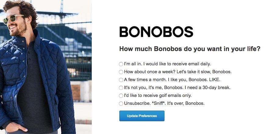 bonobos preference centre