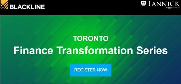 Toronto finance transformation series
