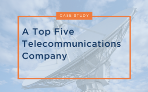 A Top Five Telecommunications Company Case Study
