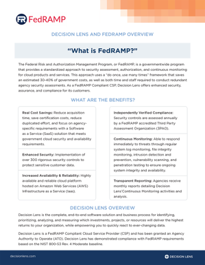 Decision Lens and FedRAMP Overview