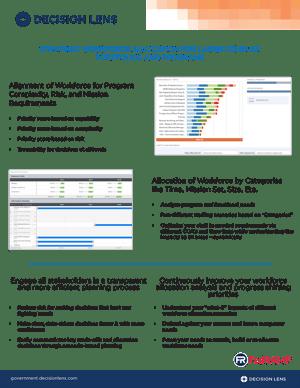 Strategic Workforce Allocation for Large Complex Portfolios & Programs