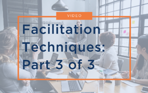 VIDEO: Facilitation Techniques: Part 3 of 3