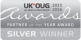 UK OUG Partner of the Year 2015-16 Silver Winner