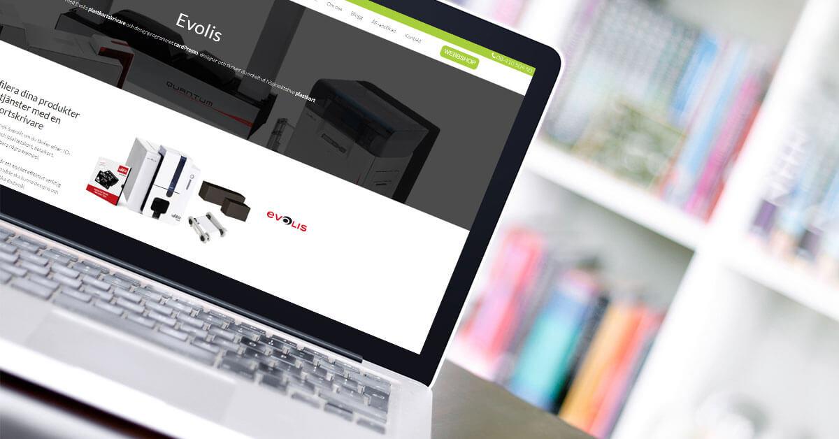 Evolis produkt- och varumärkessida