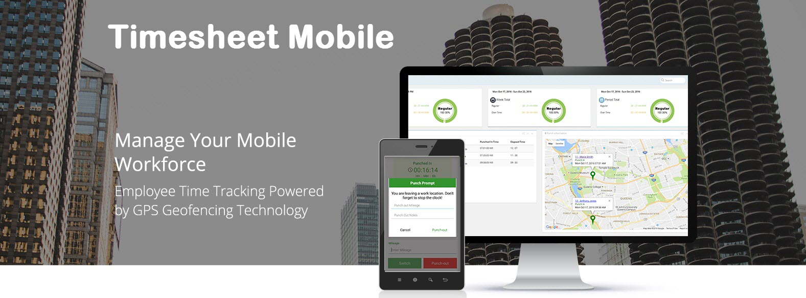 timesheet mobile workforce management app