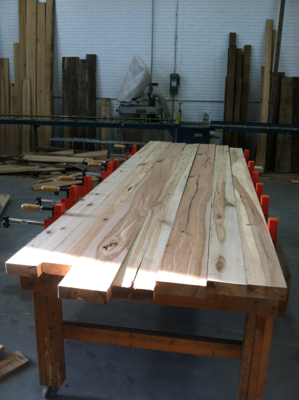 reclaimed-wood-table-initial-layout-of-table-tops