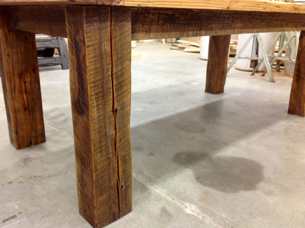 Hickory Barn Wood Big Table Legs Reclaimed Wood Michigan Resized 600