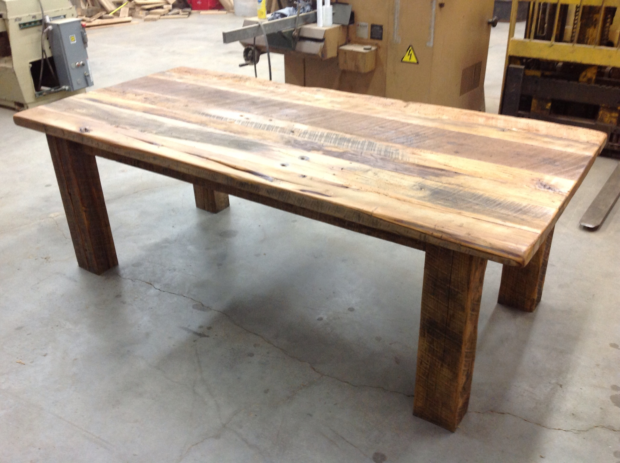 Superb ... Handcrafted Rustic Style Farmhouse Table ...