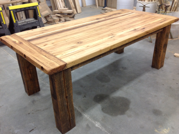 Marvelous ... American Barnwood Kitchen Island. You Wonu0027t Need To Mess Around With A  Dangerous Table Saw And Doing A Glue Up Will Make A Much Nicer Top Than  Screwing ...