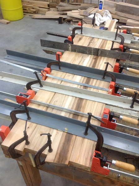 The other 1/2 glue up.