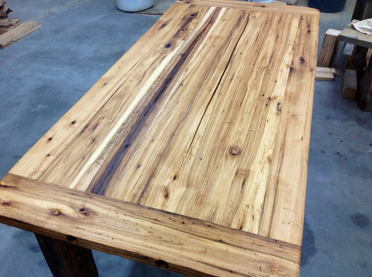 reclaimed wood table top