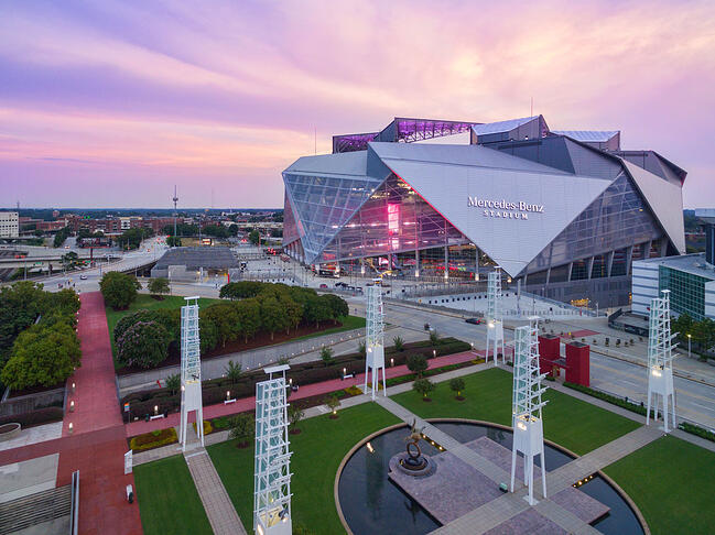Super Bowl 53: cinco aspectos sostenibles del Mercedes Stadium