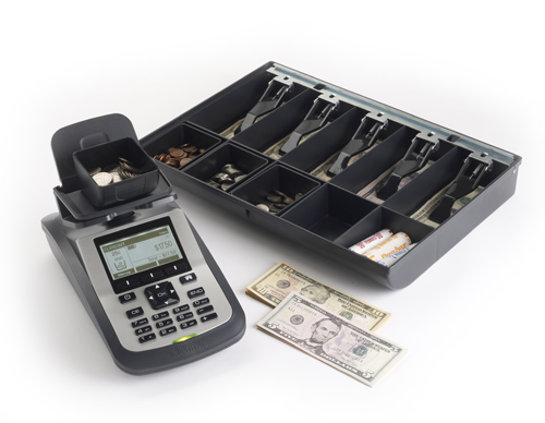 Tellermate Cash counter and drawer