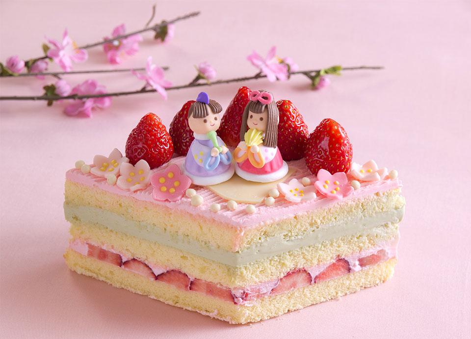 ひなまつりケーキ