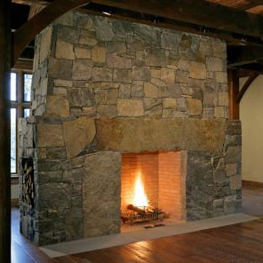 american Granite Fireplace