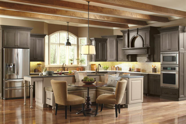What do high end kitchen cabinets look like for Upper end kitchen cabinets