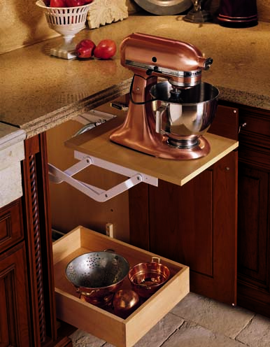 kitchen cabinets pop up mixer stand - Functional Kitchen Cabinets