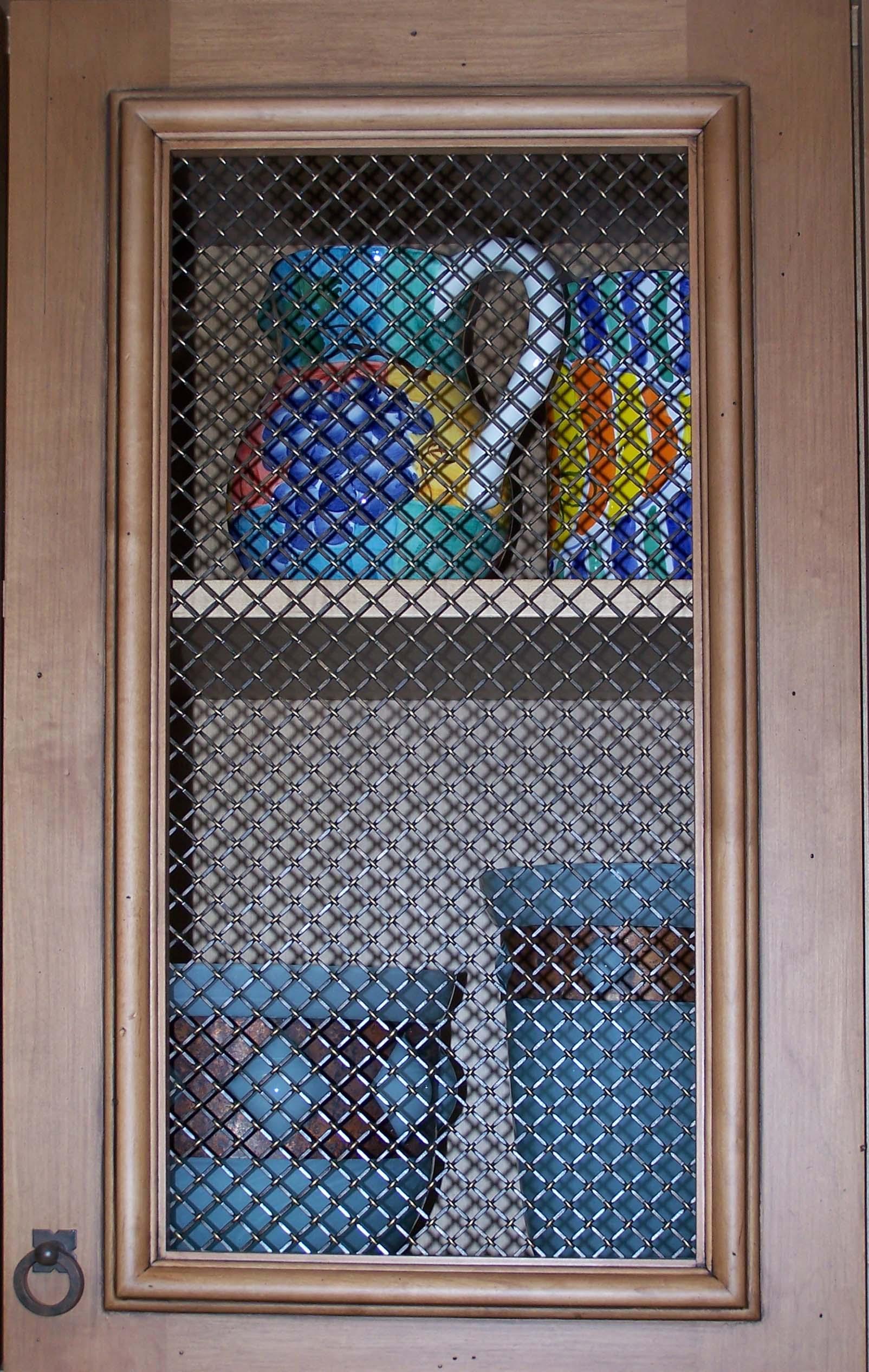 Inserts for kitchen cabinet doors - Kitchen Cabinets Wire Option Door