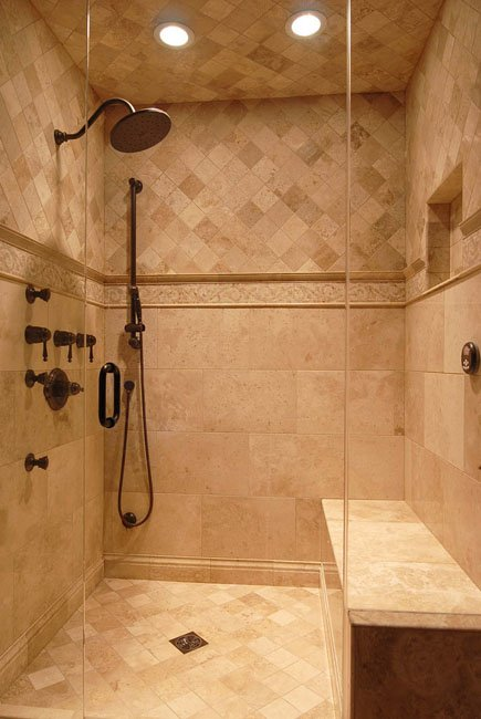 Steam shower units design factors to consider for Master bath tile designs