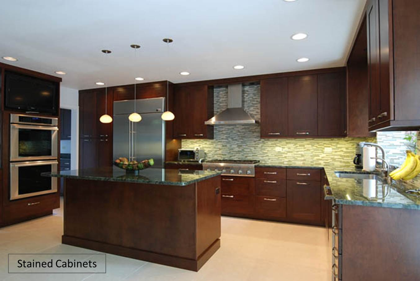 custom kitchen cabinets painted vs stained. Black Bedroom Furniture Sets. Home Design Ideas