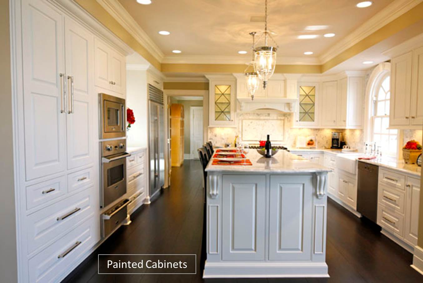 Custom kitchen cabinets painted vs stained for Kitchen cabinets painted