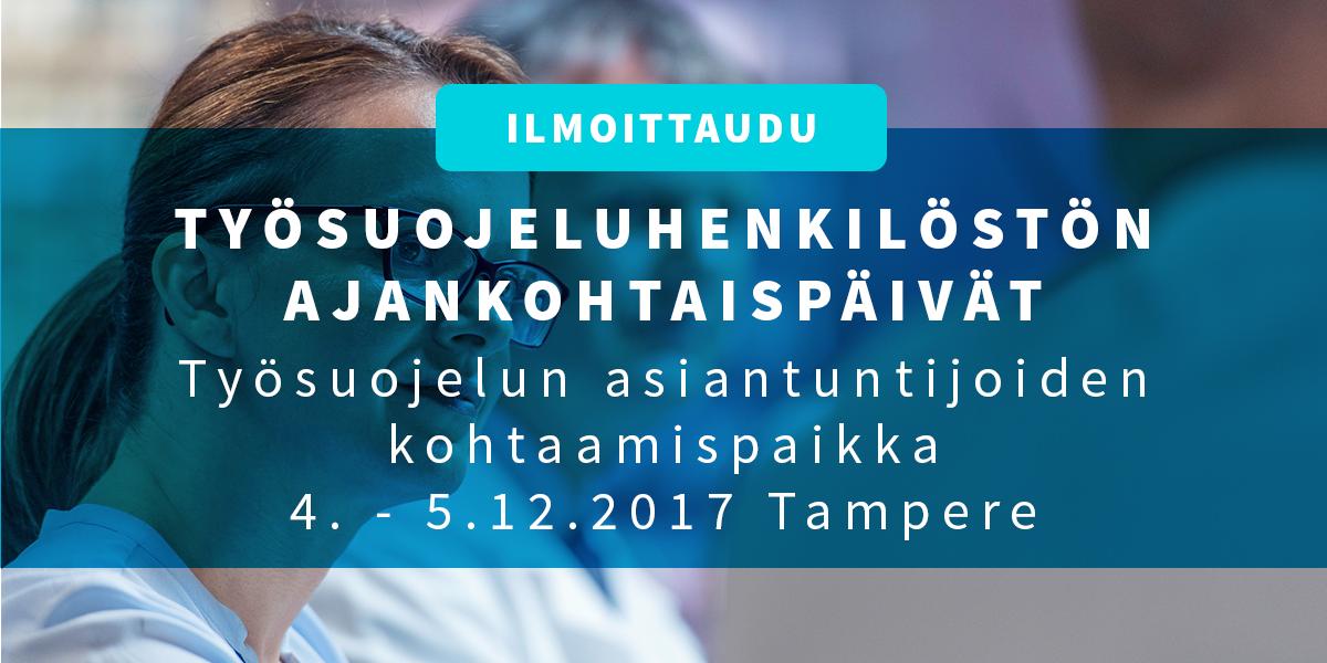 Työsuojeluhenkilöstön ajankohtaispäivät 4.-5.12.2017