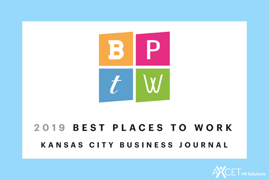 Axcet HR Solutions Named 2019 Best Places to Work by Kansas City Business Journal