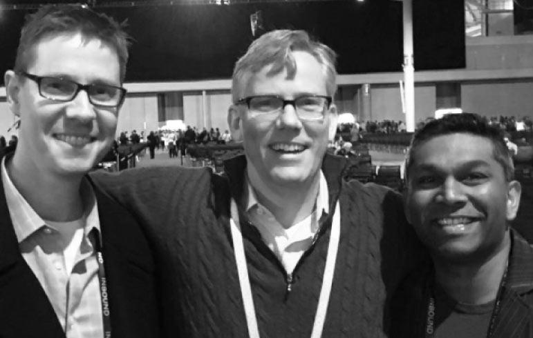 Craig Bailey, Brian Halligan and Ian Jacob at Inbound 2016