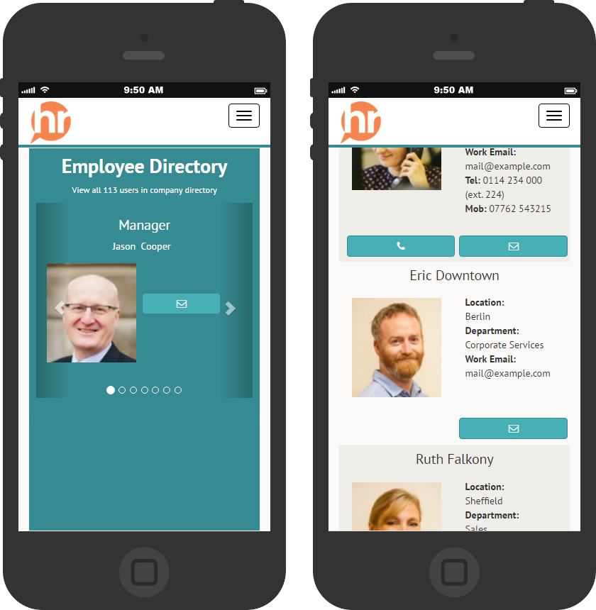 HR software on mobile