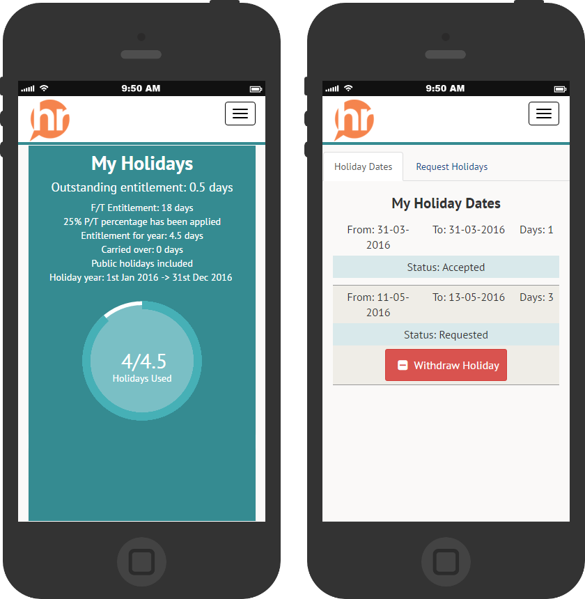 Holiday management HR app