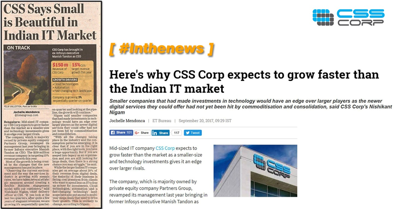CSS Corp expects to grow faster than the Indian IT market - Nishikant Nigam, CDO, CSS Corp