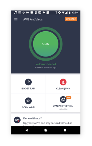 AVG AntiVirus will keep you safe from mobile threats.