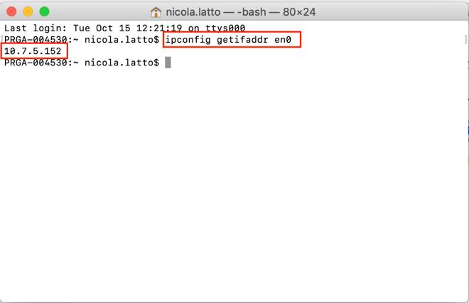 Voici comment utiliser le Terminal pour trouver votre IPlocale sur Wi-Fi.