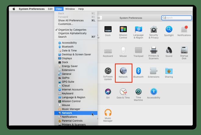 Trouvez votre IPlocale sur Mac depuis les Préférences système.