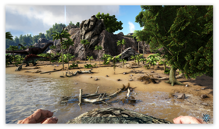 How epic-quality graphics display in Ark: Survival Evolved.